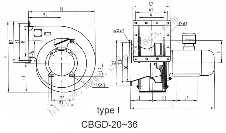 Centrifugal Fan Design : Centrifugal blower drawing