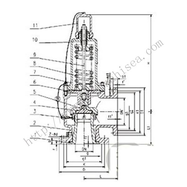 Spring Type Safety Valve Drawing