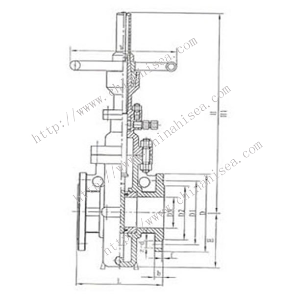 Natural Gas Flat Gate Valve Drawing