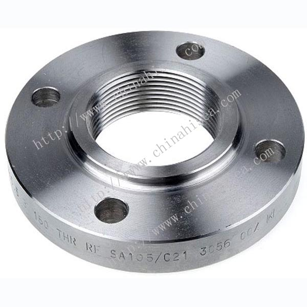 Class 300 stainless steel threaded flange