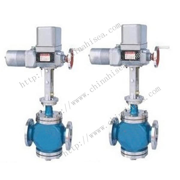 Electric Single Seat Adjusting Valve Light Blue Colour