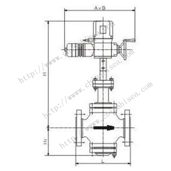 Picture of Electric Single Seat Adjusting Valve External Diameter