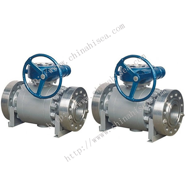 Three Parts Trunnion Ball Valve Finished