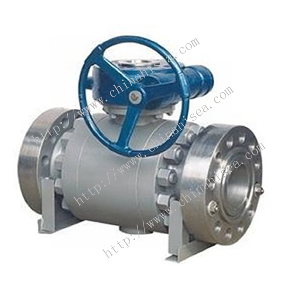 Three Parts Trunnion Ball Valve