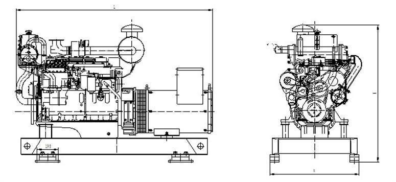 30kw marine diesel generator 30kw marine diesel generator