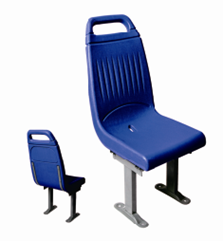 Plastic injection seat