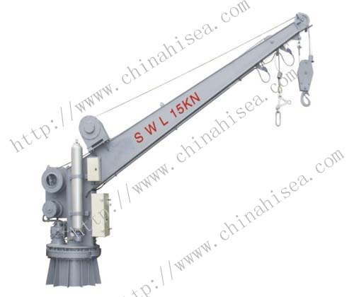 Single arm rotary boat/raft davit (with crane)