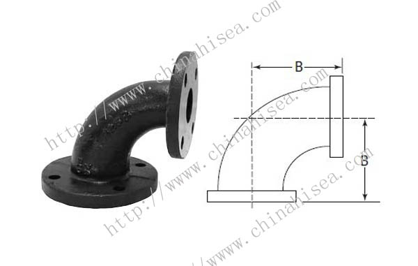Cast iron class flanged elbows