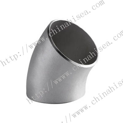 45° stainless steel elbow long radius ASME/ANSI B16.9