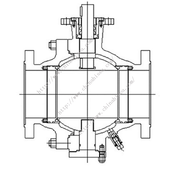 G2070 Soft Sealing Ball Valve Drawing