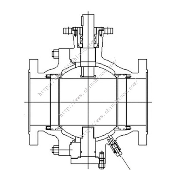 Metal Sealing Ball Valve Drawing
