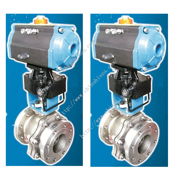 The pictures of O Type Ball Valve