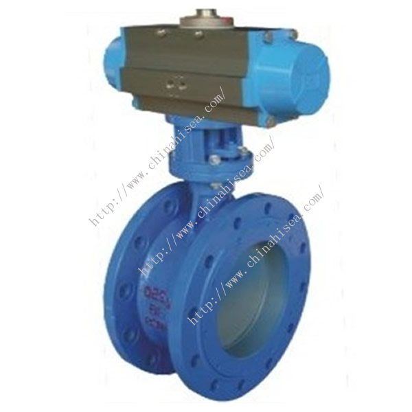 Pneumatic Rubber Sealing Butterfly Valve Sample