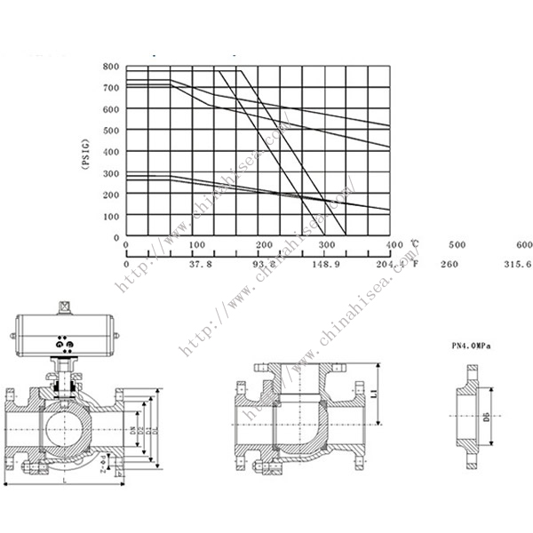 Electric Three Way Ball Valve Drawing
