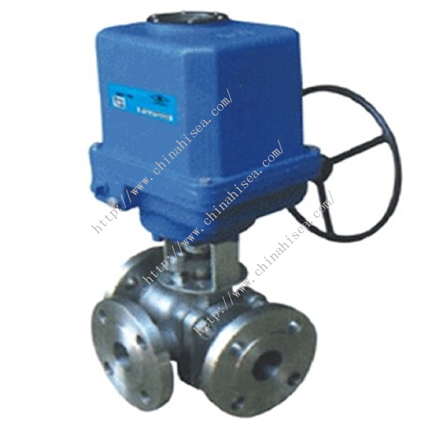 Electric Three Way Ball Valve