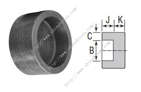 Forged steel socket weld caps class