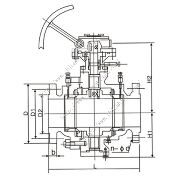 Worm Gear Ball Valve Drawing