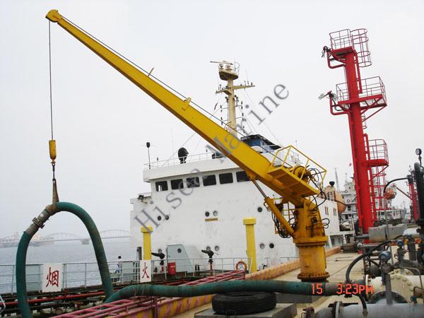 Yacht Hydraulic Crane : Electric hydraulic marine hose handling crane