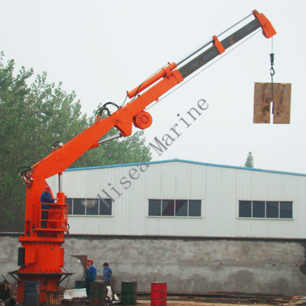 Electric Hydraulic Marine Knuckle Telescopic Boom Crane