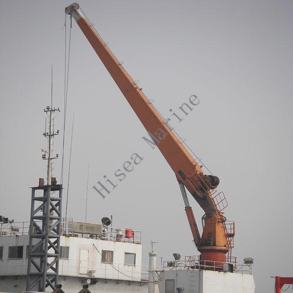 Yacht Hydraulic Crane : Electric hydraulic marine stiff boom crane