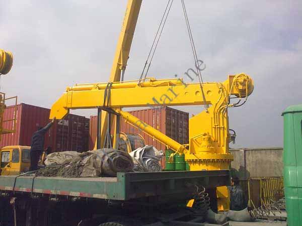 Yacht Hydraulic Crane : Kn m hydraulic marine deck crane